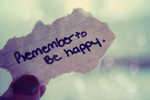 Remember-to-be-happy
